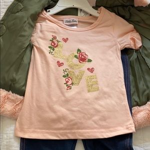 Little Lass Matching Sets - NWT 2T Outfit with Puffer Vest